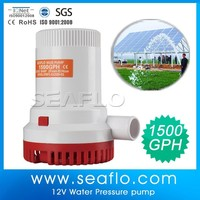 Solar Agriculture Water Pump System SEAFLO 1500GPH 12V Solar Electric Submersible Pump