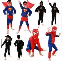 Wholesale Kids adult spiderman costume Halloween Cosplay Costume for kids Superman Costume cosplay for adult