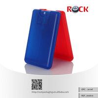 China Wholesale custom color 20ml plastic credit perfume card,perfume bottle,perfume card with pump sprayer_700610