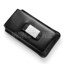New Design Leather Cellphone Case with Metal Laser Logo