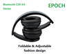 Universal Foldable Bluetooth Headphones with Microphone , 2015 Over-Ear Wireless Headphone Headset