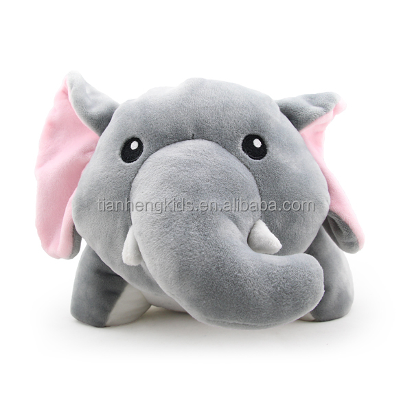 Cute Microbead Pillow : Christmas soft microbeads pillow Transform travel cute neck Pillow stuffed plush elephant toy ...