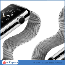 Elegant Milanese Stainless Steel Watch Band Strap Adapter For Apple Watch iWatch