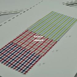 Mini check bamboo fabric shirt online wholesale shop