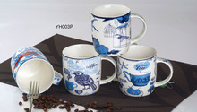 M3585 Blue bird ceramic cups and mugs sublimation