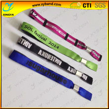 New customized woven cloth wristband for events and party