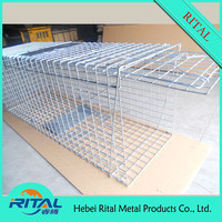Foldable Large Steel Live Animal Trap Cage Fox Dog Trap Cage Made in China