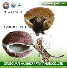 Cat Hamburger Bed & QQPet Luxury Pet Dog Bed & burger bun pet cat bed