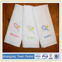 Customized terry embroidered 100% cotton bear face towel