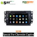7 pulgadas accesorios para Chevrolet Captiva en Android con ranura frontal USB SD del GPS BT TV IPOD Radio RDS