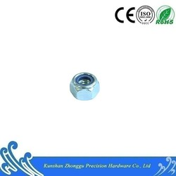 DIN982 Carbon Steel Nylon Insert Lock Nuts with blue-white zinc