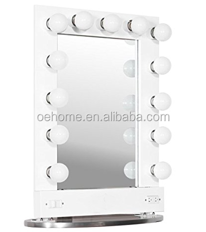 Broadway Lighted Vanity Mirror (gloss White,36.25