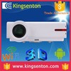 Full hd 1080p Android4.2 dual core wifi 3D LCD projector 1280*800 resolution multimedia projector and screen