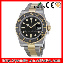 2015 custom stainless steel automatic two tone luxury watch brands