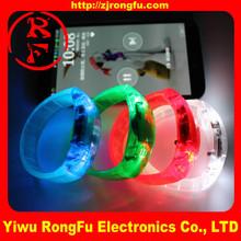 led flashing bracelet wristbands sound sensor