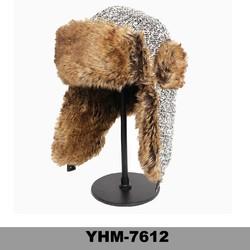 Hot selling winter men ski aviator wool winter earflap russian ushanka hat