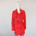 xlchaqueta 2015 fasion señoras rojo largo trinchera abrigo de mujer para abrigos de invierno