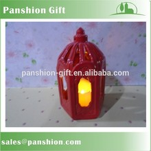 Antiguo faroles de velas con luz led interior