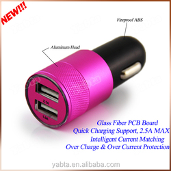 For iPad/ iPhone/ Samsung dual usb car charger 3.1a, OEM branded car charger adapter