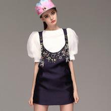 smart well-dressed elegant 2015 morden short sleeve evening dresses china prom dress