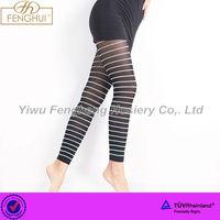 P0561 Yiwu Fenghui sexy striped leggings ladies snagging resistance leggings with strip