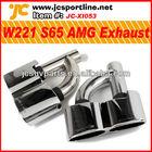 aço inoxidável escape dicas para mercedes benz w221 s65 amg silencioso dicas silenciador de carro tubo de escape