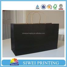 2015 Hot Sale kraft paper bag designer handbag laminated design with OEM logo