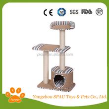 Cat climb tree wooden dog toy