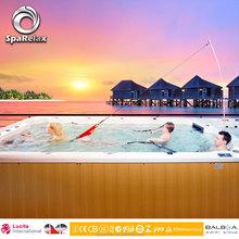 Rectangular aboveground fiberglass swmming pool, hot swim pool with sex massage video