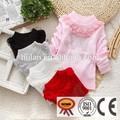 2015 caliente de la venta de bebé niña completo de bebé de impresión suéter de lana con cordón
