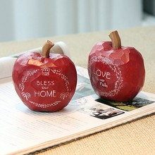 Blessing you apple resin decoration for christmas