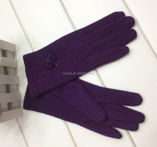 Popular Full Finger Winter Cashmere Gloves for women