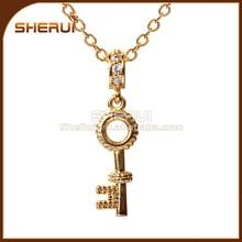 24k yellow gold plated Custom key chain pendant ,engraved key pendant