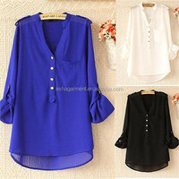 Women s clothing 2015 summer blouses new design cotton/polyester/chiffon casual/formal 2015 fashion ladies tops factory