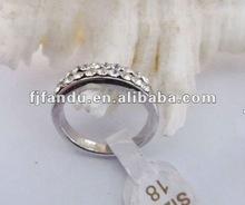 fashiong adjustable coystal ring