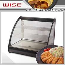 WISE Kitchen Electric Black Mirror Steel Hot Food Display Case from Manufacturer
