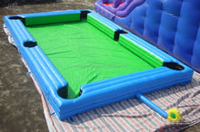 2015 New Pool Hall Inflatable Billiards Football / Snooker Type Inflatable Soccer Court