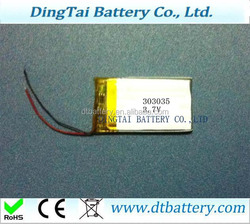 Excellent quality 3.7V 180mah rechargeable polymer DTB303035 smallest battery