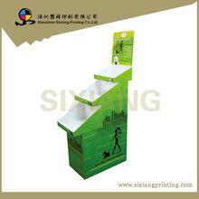 Publicidade do vinho de papelão expositor personalizado