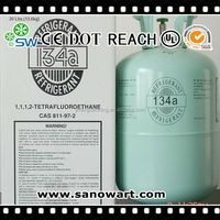 R134a gas refrigerant suppliers 99.9% purity freezer chemical