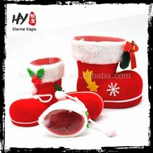 High quality santa claus boots ornaments, christmas candy boots for promotion, santa claus boots decoration