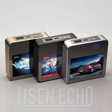 Latest LCD digital display 6600mah polumer cell aviation aluminum power bank with display HD adverisement portable power pack