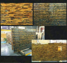 Wall tile tiger eyes stone slabs laminate countertop skins