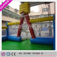 EN71-1best price large inflatable basketball game with deep fence