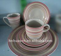 Ceramic 16pcs or 20pcs hand painted dinnerware sets ,colorful dinnerware sets