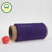 NE 21s purple color yarn supplier open end yarn recycled cotton/polyester blended knitting yarn