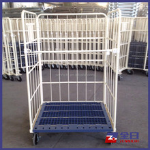 Nestable Roll Mesh Container with Plastic Pallet