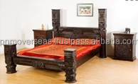 Rosewood Pillar Bed