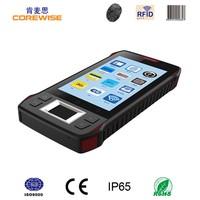 "Android quad core rugged 4.3"" mobile pda wifi 1d 2d barocde scanner fingerprint waterproof rfid reader"