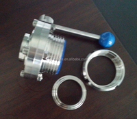 hot sale Sanitary stainless steel butterfly valve(SMS,ISO,DIN,RJT standard)